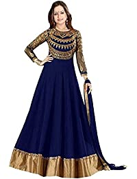 Home Deal Prachi Desai Blue Suits For Women Indo-Western For Party Wedding Wear Floor Length Gown/ Anarkali Suit...