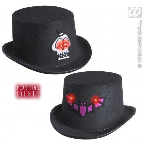 WIDMANN Filz Blinkender Halle, Top 2 Styles Ass. Blinkende Hüte und Kopfbedeckung für Kostüme
