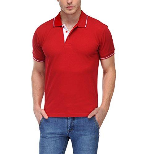 Scott Men's Premium Cotton Polo T-shirt - Red - 1.1_sp1_M