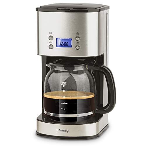 H.Koenig MG30 Kaffeefiltermaschine / 12-20 Tassen / 1,5 L / LCD Bildschrim / programmierbar / silber