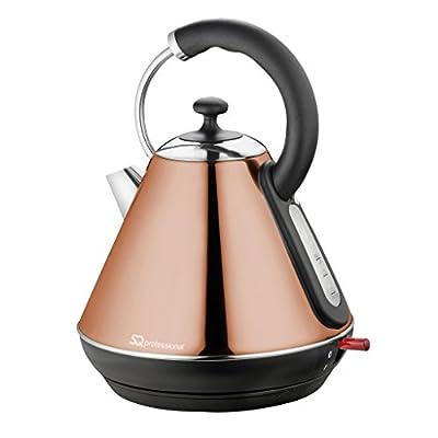 Bouilloire électrique sans fil, ébullition rapide, 2200W 1.8L - Couleur Cuivre