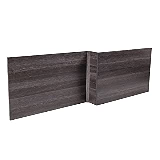 Aquariss 1800 L Shape Calm Grey Effect Wood Shower Bath Front Panel