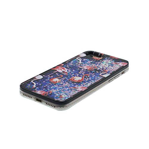 iPhone 7 Plus Custodia, Bling Glitter ultra sottile / Case iPhone 7 Plus Copertura / Shock Dust Resistant Shell iPhone 7 Plus Cover 5.5 & tappi antipolvere / cosmetics Fashionable Nero 2