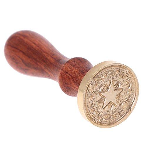 Chansted Timbro Antico in Legno Sigillo a Matrice Magica, ceralacca, Timbro Antico con Manico in faggio (B)