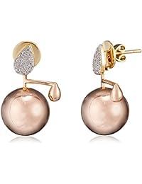 Jewels Eleven 14k Gold and Diamond Drop Earrings