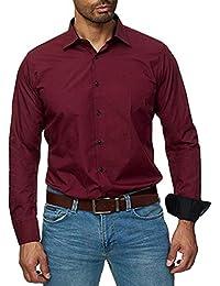 Sylar Camisa Hombre Manga Larga Casual Camisa De Estampado Original Camisa De Vestir para Hombre Camisa A Rayas para Hombre Tops Blusa Hombre Blanca Otoño Casual Formal Slim Button-Down Cuadros