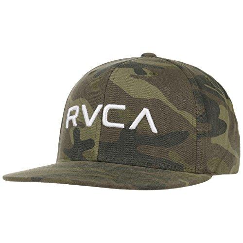RVCA Twill III Snapback Cap Flat Brim Flatbrim Basecap Baseballcap Kappe Cap Basecap (One Size - - Baseball Rvca