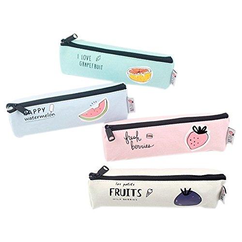 fablcrew Small Cute Fruit Federmäppchen klein Canvas Tasche-fach Tasche Beauty-Tasche Mignon Zipper Storage Bag für die Schülerinnen oder Frauen Desktop - (Victoria Secrets Mäppchen)