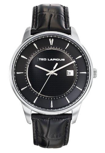 Ted Lapidus 5129301 - Reloj de pulsera hombre, piel, color negro