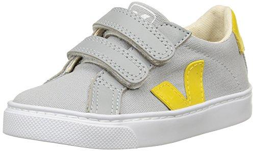 Veja - Esplar Velcro, Scarpe da ginnastica Unisex - Bambini, Grigio (Grey (Oxford Grey/Gold/Yellow)), 31 EU