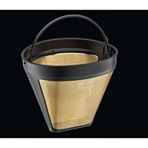 Cilio Premium - Reusable Mesh Coffee Filter - Eliminate Need for Paper Filters - Gold Plated - Various Sizes