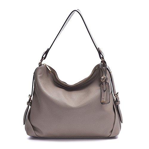 Leder Tasche, dddh Hobo Taschen Handtaschen Schulter Handtasche für Frauen grau