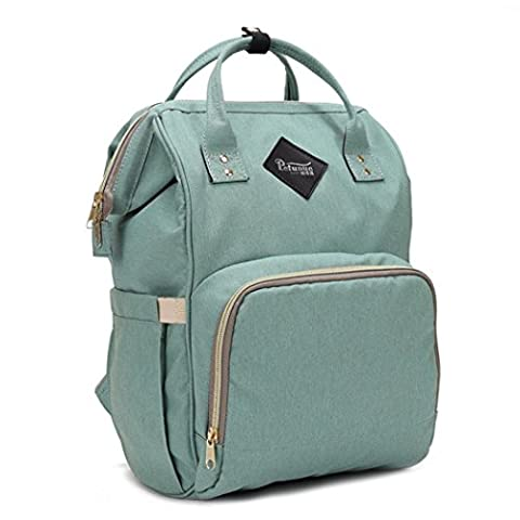 BZLine 2017 New Fashion Women Girls Leather School Bag Travel Backpack Satchel Shoulder Rucksack Hot! (Mint Green)