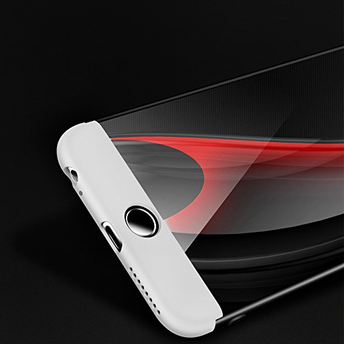 Custodia per iPhone 6s, SXUUXB Design Elegante Stylish per iPhone 6 Smoothly 3 in 1 Case Cover in plastica dura PC Premium [3-Parts] Detachable Anti-Scratch Slim Protective Hybrid Shell per Apple iPho Argento e Nero