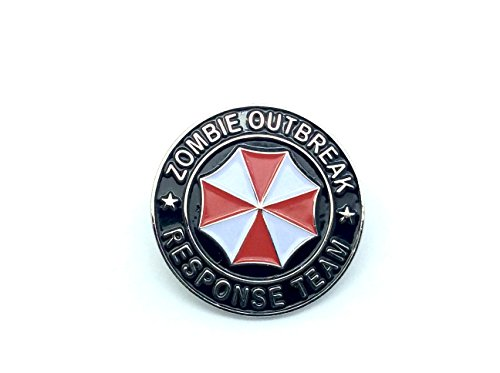 Patch Nation Zombie Outbreak Response Team Biohazard Resident Evil Cosplay Metal Pin Badge