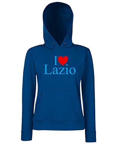 T-Shirtshock - Sweats a capuche Femme TLOVE0081 i love heart lazio Bleu Navy