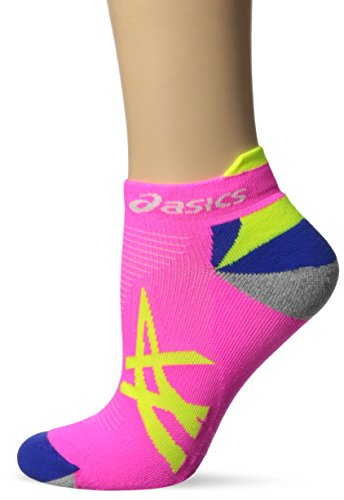 Mischen Sie Ihre Run Low Cut Socke, Medium, Pink Glow / Sicherheit gelb (Low-cut Socken Asics)