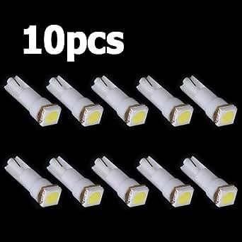 10x ampoule t5 led smd blanc pour compteur tableau de bord dc12v lampe tuning lumiere voiture. Black Bedroom Furniture Sets. Home Design Ideas