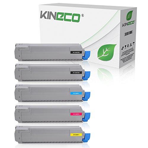 Preisvergleich Produktbild 5 Toner kompatibel zu OKI C8600DN Series, C8800DN Series - Schwarz und Color je 9.000 Seiten