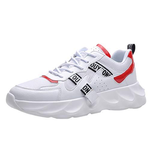 Dtuta Bas-Top AthléTique Courir Baskets Gym Fitness Sport Sneakers Chaussures De Course pour Hommes en Plein Air, Respirantes Et Respirantes, en Mesh LéGer Et RéSistant à l'usure
