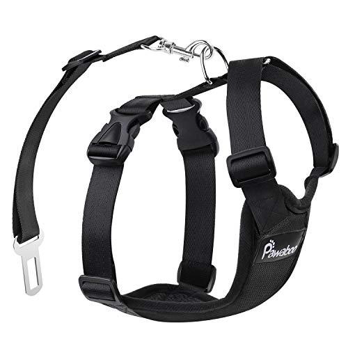 Pawaboo Cinturón Arnés Chaleco Seguridad Perros