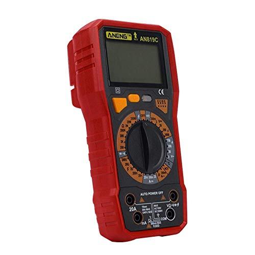 VROSE FLOSI Digital Multimeter, AN819C Zählt Auto Range AC DC Spannungsprüfer, Amperemeter, Widerstand, Temperaturmessung, Außenleiter-Identifizierung, Durchgangsprüfung, Hintergrundbeleuchtung