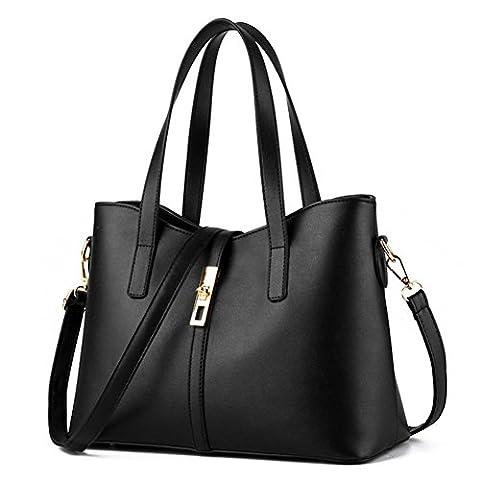 YAAGLE Fashion PU Leather Handbag Shoulder Bag Rotatable Lock Women Tote Bag