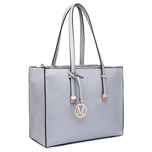 Miss Lulu , Sac pour femme à porter à l'épaule 6636 Grey