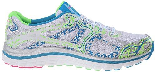 Skechers Sport Ascent Fashion Sneaker White Lime Blue