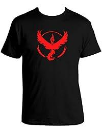 herren Pokemon Go Team Valor Mystic-Team Instinct Pokeball T-Shirt Tops