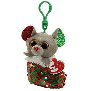 Ty 35314 Chipper Mouse FLIPPABLE Clip Xmas 2019, Multicolor alfonbrilla para ratón