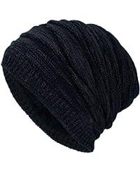 Sombrero de Punto de Invierno, gorritas Tejidas holgadas Bullie de Lana cálidos para Hombres y