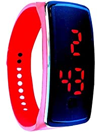 Lemonade - Red Color Unisex Silicone Digital LED Bracelet Band Wrist Watch For Kids, Boys, Men, Girls, Women