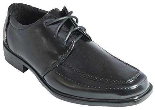 Festliche Kinder Halbschuhe schwarz Kinderschuhe Schnürschuhe 38