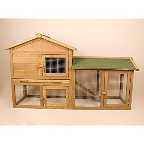 Hoddmimis Pet Supplies Wooden Backyard Chicken Coop Hen house Poultry Cage with Outdoor Run … - Penthouse Cat