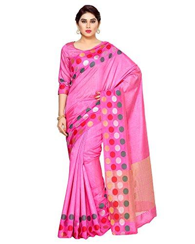 Mimosa By Kupinda Women's Tussar Silk Saree Kanjivaram Style (Latest Designer Sarees /Party wear sarees /New collection sarees) (4132-215-SD-PINK) Color