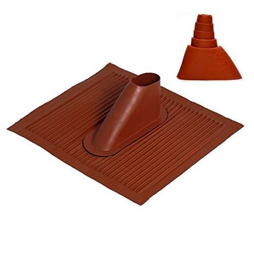 Aluminium - Dachziegel in ROT; mit Dichtung; grosse Platte; anpassbar an jede Ziegelform; ...die Alternative zum Bleiziegel; schwermetallfrei, umweltfreundlich [Dachpfanne; Mastdurchführung; Dachabdeckung]