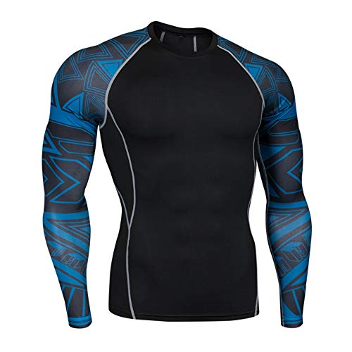 ChYoung Compression Shirt Männer Jungen Langarm Sport T-Shirts Übung Tees Quick Dry Training Tops
