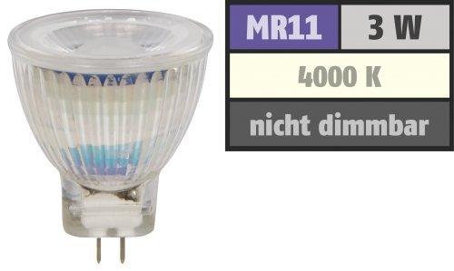 Preisvergleich Produktbild LED-Strahler McShine ''MCOB'' MR11 / G4. 3W. 250 lm. neutralweiß