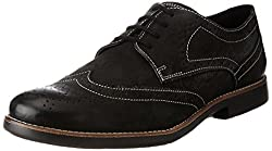 Ruosh Mens Black Leather Boots - 10 UK/India (44 EU)