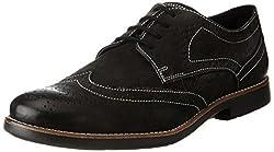 Ruosh Mens Black Leather Boots - 7 UK/India (40 EU)