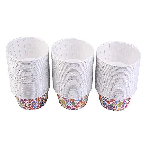 100 STÜCKE Backförmchen Cupcake Liners, Runde Kuchen Backförmchen Muffin Formen für Party Hochzeiten, Geburtstag Dekoration(# 3 Rainbow Blume) - Cupcake-liner Blumen