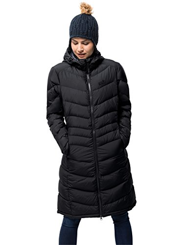 Jack Wolfskin Damen Selenium Coat Mantel, Black, M North Face Down Coat
