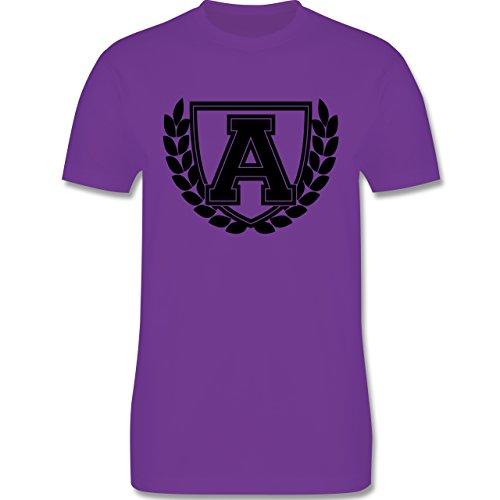 Anfangsbuchstaben - A Collegestyle - Herren Premium T-Shirt Lila