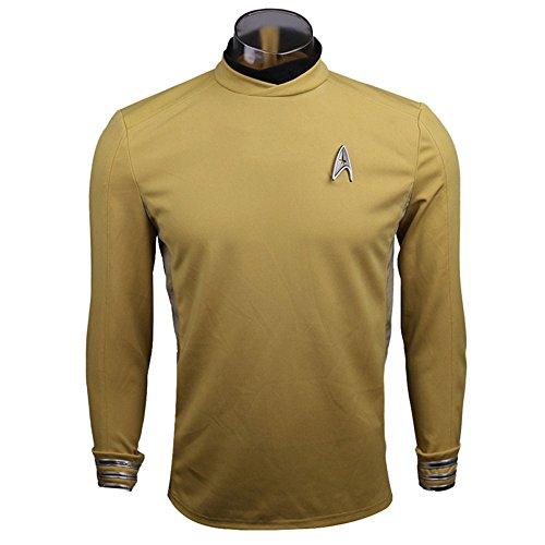 nihiug Star Trek 3 Jenseits der Sterne Captain Coach Cosplay Kostüm,Yellow-S
