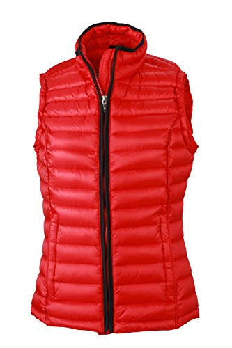 James & Nicholson Damen Jacke Weste Ladies Quilted Vest rot (Red/Black) Medium Womens Down Vest