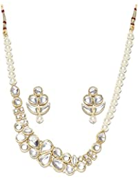 Shining Diva Fashion Kundan Wedding Party Wear Stylish Necklace Set For Women Traditional Jewellery Set With Earrings...