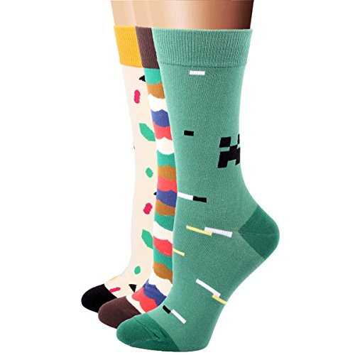 rioriva-women-cotton-rich-lovely-multi-colour-striped-dot-dress-casual-socks-3-pack