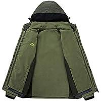Yvelands Ropa de Abrigo Chaquetas y Abrigos, Hombre Engrosamiento Velvet Hoodie Calidez Protección contra el Viento Asalto al Aire Libre Blusa Superior