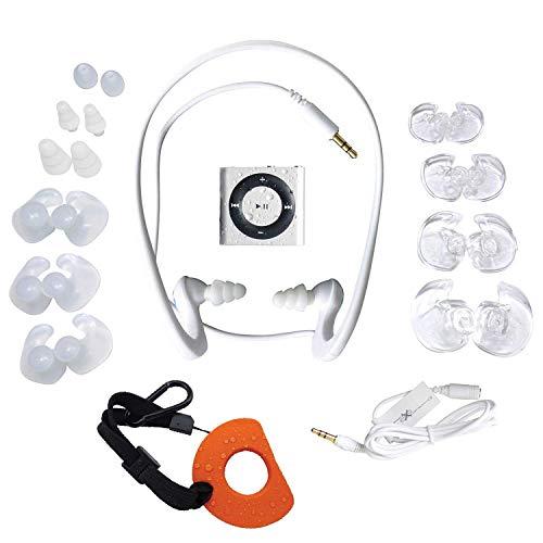 Underwater Audio- Wasserdichter iPod Shuffle (Silber), HydroActive Kopfhörer Bündel (Ipod Shuffle Ipod Ihre Ohrhörer)